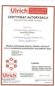 Hydrogaz certyfikat Ulrich